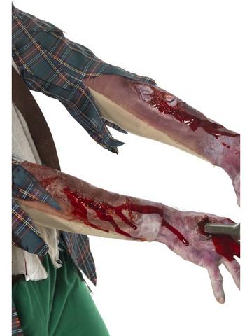 Accessorio halloween guanti ferite braccia e gambe