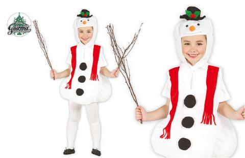 Vestito di natale pupazzo di neve