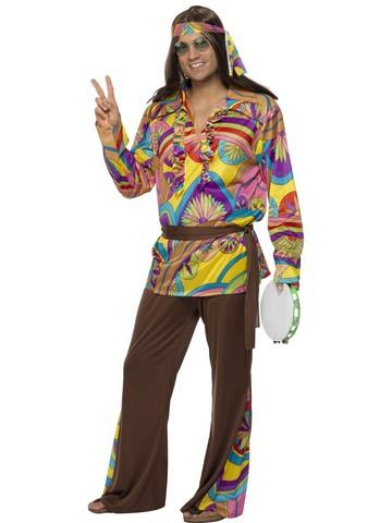 Costume di carnevale hippy uomo