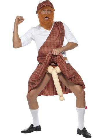 Costume di carnevale da scozzese superdotato