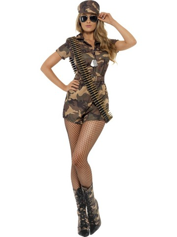 Costume di carnevale da soldatessa marines sexy