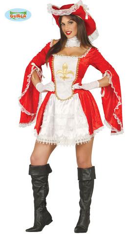 Costume di carnevale da moschettiera sexy
