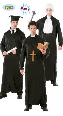 Costume di carnevale da studente prete giudice