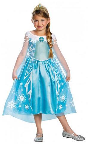 Costume di carnevale da principessa elsa frozen bambina