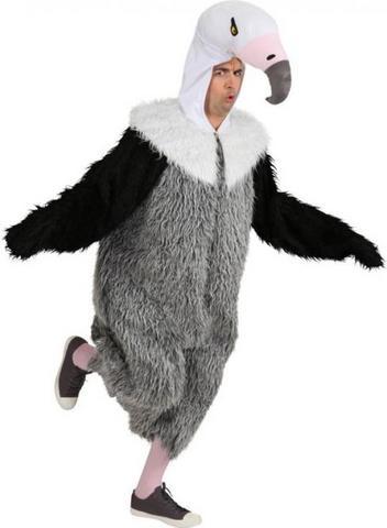 Costume di carnevale da avvoltoio in peluche