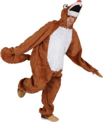 Costume di carnevale da bradipo in peluche