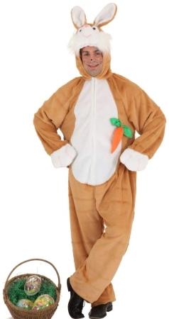 Costume di carnevale da coniglio in peluche