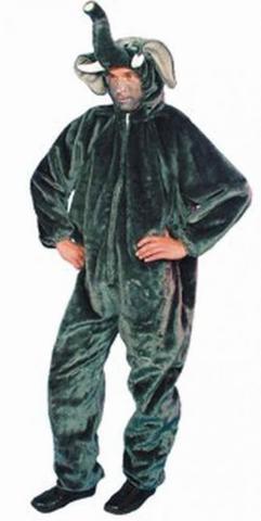 Costume di carnevale da elefante in peluche