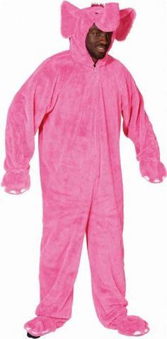 Costume di carnevale da elefante pink in peluche