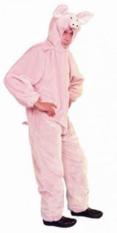 Costume di carnevale da maiale in peluche