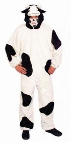 Costume di carnevale da mucca in peluche