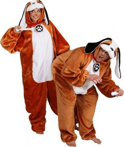 Costume di carnevale da san bernardo in peluche