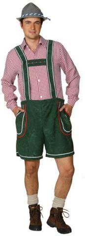 Pantaloni lederhosen uomo corti verdi