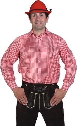 Camicia bavarese a quadretti rossi