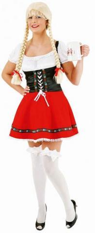Vestito bavarese sexy rosso