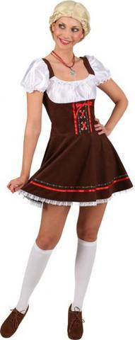 Vestito bavarese sexy marrone