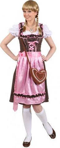 Vestito bavarese lungo tipico