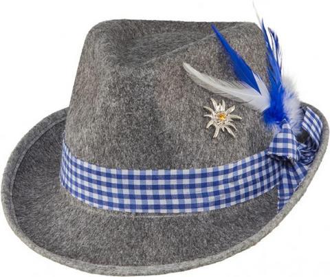 Cappello bavarese con spilla bianco e blu