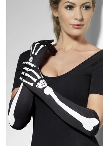 Accessorio di halloween guanti ossa scheletro