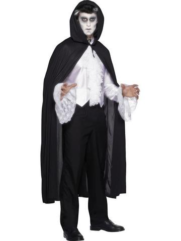 Costume di halloween mantello nero