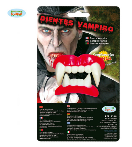 Accessorio di halloween dentiera vampiro