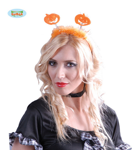 Accessorio di halloween cerchietto zucca