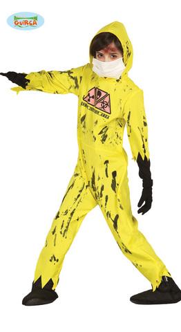Costume di halloween zombie radioattivo