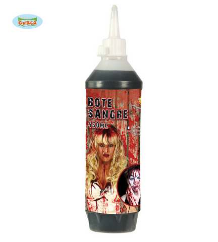Decorazione di halloween bottiglia sangue