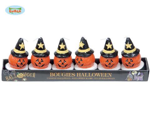 Decorazione di halloween candele zucca