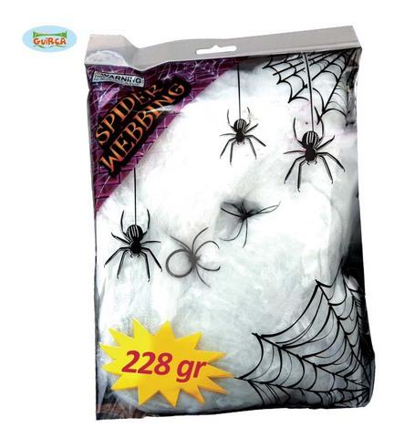 Decorazione di halloween ragnatela con ragni
