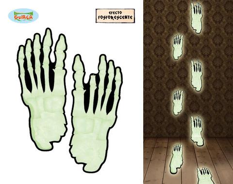 Decorazione di halloween piedi fluorescenti