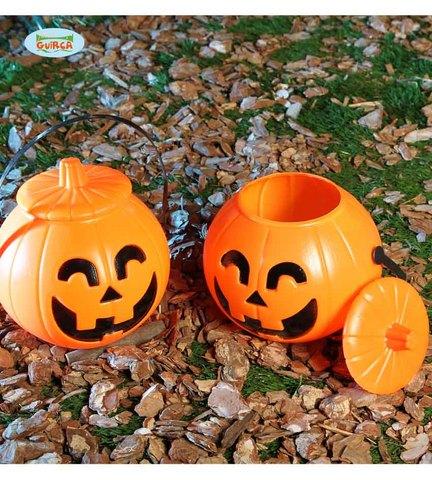 Decorazione di halloween cestino zucca