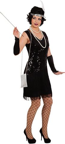 Vestito anni '20 charleston nero