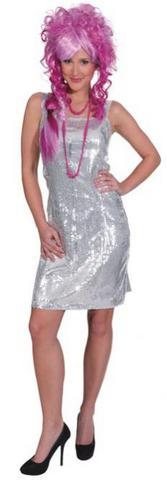 Vestito di paillettes argento
