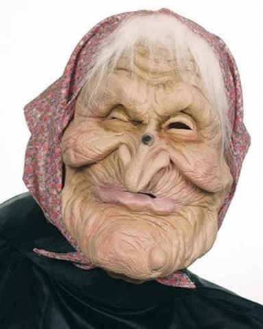 Maschera da vecchia anziana