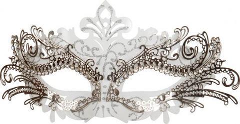 Maschera elegante in metallo