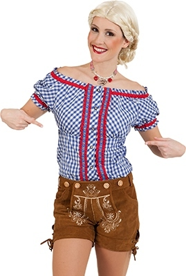 Camicia bavarese da donna blu