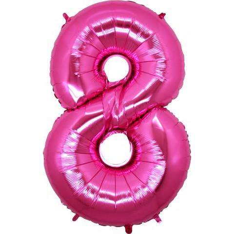Palloncino a forma di numero 8 rosa pink
