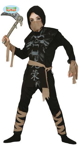 Costume ninja scheletro bambino