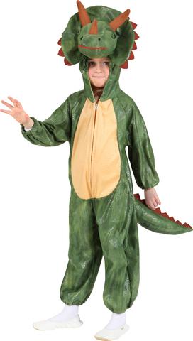 Costume di carnevale da dinosauro in peluche bambino