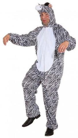 Costume di carnevale da zebra in peluche