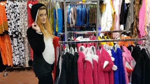 Costume peluche da orsetto, panda e unicorno