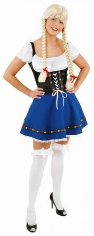 Vestito bavarese sexy blu