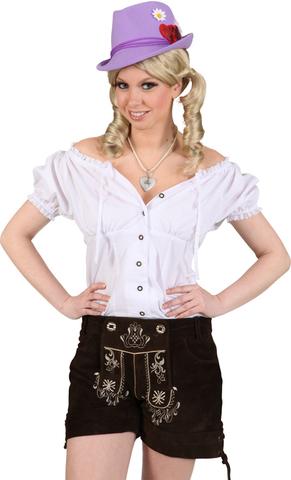 Camicia bavarese da donna bianca