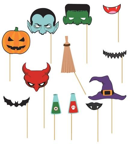 Accessori bastoncini per fotoshooting a tema halloween