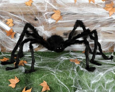 Accessorio  halloween ragno gigante 150cm