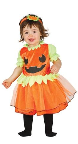 Costume halloween da zucca per neonati