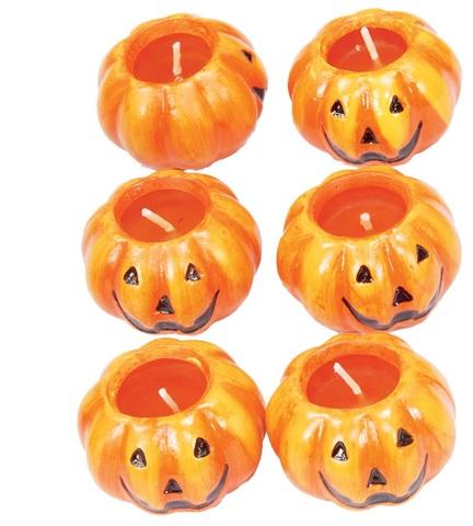 Decorazione halloween candeline a forma di zucca