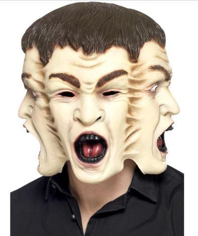 Accessorio halloween maschera a 3 facce