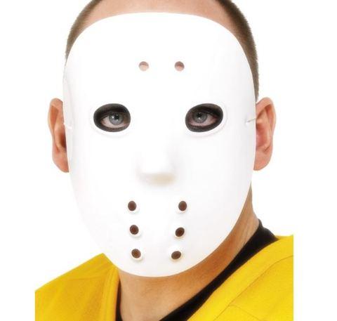 Accessorio halloween maschera da jason con buchi